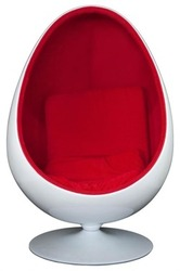 Купить кресло реплика Кокон Ovalia Chair белое Киев Кресло яйцо Ovalia
