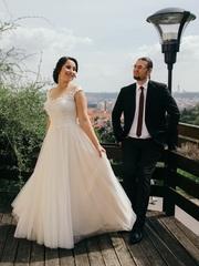 Свадебное платье Италия.Бренд Nora Naviano.размер 44. Один раз надето