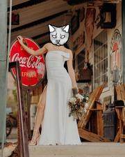 Продам Свадебное платье 800$.Шила на заказ.Замуж выходила в ЛасВегасе.
