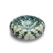 Ровно Круглая керамическая раковина с ручной росписью. Двойной высокот