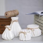 Набор оригинальных ваз для декора Алхимия белые
