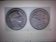 Продам серебренную монету